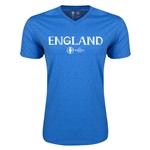 England Euro 2016 Core V-Neck T-Shirt (Heather Royal)