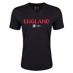 England Euro 2016 Core V-Neck T-Shirt (Black)