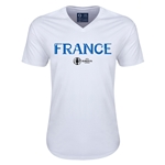 France Euro 2016 Core V-Neck T-Shirt (White)