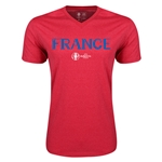 France Euro 2016 Core V-Neck T-Shirt (Heather Red)