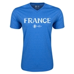 France Euro 2016 Core V-Neck T-Shirt (Heather Royal)