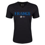 France Euro 2016 Core V-Neck T-Shirt (Black)