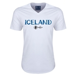 Iceland Euro 2016 Core V-Neck T-Shirt (White)