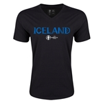 Iceland Euro 2016 Core V-Neck T-Shirt (Black)