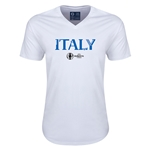 Italy Euro 2016 Core V-Neck T-Shirt (White)