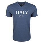 Italy Euro 2016 Core V-Neck T-Shirt (Heather Navy)