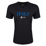 Italy Euro 2016 Core V-Neck T-Shirt (Black)