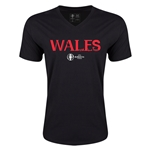 Wales Euro 2016 Core V-Neck T-Shirt (Black)