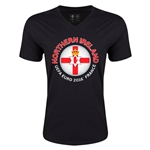 Northern Ireland Euro 2016 Fashion V-Neck T-Shirt (Black)