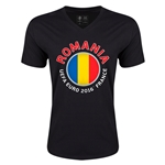 Romania Euro 2016 Fashion V-Neck T-Shirt (Black)