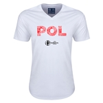 Poland Euro 2016 Elements V-Neck T-Shirt (White)