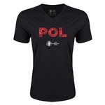 Poland Euro 2016 Elements V-Neck T-Shirt (Black)