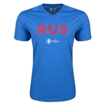 Russia Euro 2016 Elements V-Neck T-Shirt (Heather Royal)