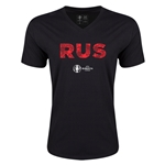 Russia Euro 2016 Elements V-Neck T-Shirt (Black)