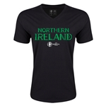 Northern Ireland Euro 2016 Core V-Neck T-Shirt (Black)