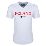Poland Euro 2016 Core V-Neck T-Shirt (White)