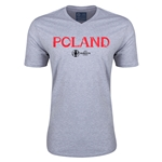Poland Euro 2016 Core V-Neck T-Shirt (Grey)