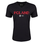 Poland Euro 2016 Core V-Neck T-Shirt (Black)