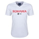 Romania Euro 2016 Core V-Neck T-Shirt (White)