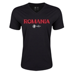 Romania Euro 2016 Core V-Neck T-Shirt (Black)