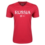 Russia Euro 2016 Core V-Neck T-Shirt (Heather Red)
