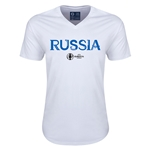 Russia Euro 2016 Core V-Neck T-Shirt (White)