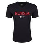 Russia Euro 2016 Core V-Neck T-Shirt (Black)