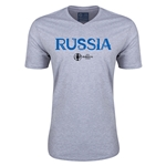Russia Euro 2016 Core V-Neck T-Shirt (Grey)