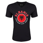 Albania Euro 2016 Fashion V-Neck T-Shirt (Black)