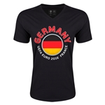 Germany Euro 2016 Fashion V-Neck T-Shirt (Black)