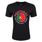Portugal Euro 2016 Fashion V-Neck T-Shirt (Black)