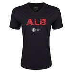 Albania Euro 2016 Elements V-Neck T-Shirt (Black)