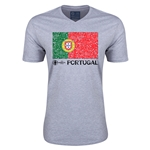 Portugal Euro 2016 Fashion V-Neck T-Shirt (Grey)