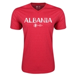 Albania Euro 2016 Core V-Neck T-Shirt (Heather Red)