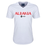 Albania Euro 2016 Core V-Neck T-Shirt (White)
