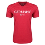 Germany Euro 2016 Core V-Neck T-Shirt (Heather Red)