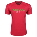 Portugal Euro 2016 Core V-Neck T-Shirt (Heather Red)