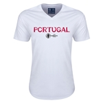 Portugal Euro 2016 Core V-Neck T-Shirt (White)