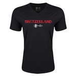 Switzerland Euro 2016 Core V-Neck T-Shirt (Black)