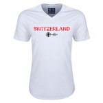 Switzerland Euro 2016 Core V-Neck T-Shirt (White)