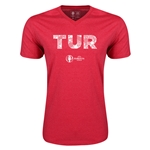 Turkey Euro 2016 Elements V-Neck T-Shirt (Heather Red)
