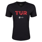 Turkey Euro 2016 Elements V-Neck T-Shirt (Black)