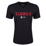 Turkey Euro 2016 Core V-Neck T-Shirt (Black)
