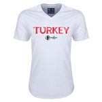 Turkey Euro 2016 Core V-Neck T-Shirt (White)