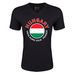 Hungary Euro 2016 Fashion V-Neck T-Shirt (Black)