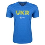 Ukraine Euro 2016 Elements V-Neck T-Shirt (Heather Royal)