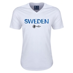 Sweden Euro 2016 Core V-Neck T-Shirt (White)