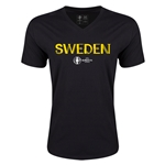 Sweden Euro 2016 Core V-Neck T-Shirt (Black)