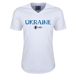 Ukraine Euro 2016 Core V-Neck T-Shirt (White)