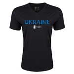 Ukraine Euro 2016 Core V-Neck T-Shirt (Black)